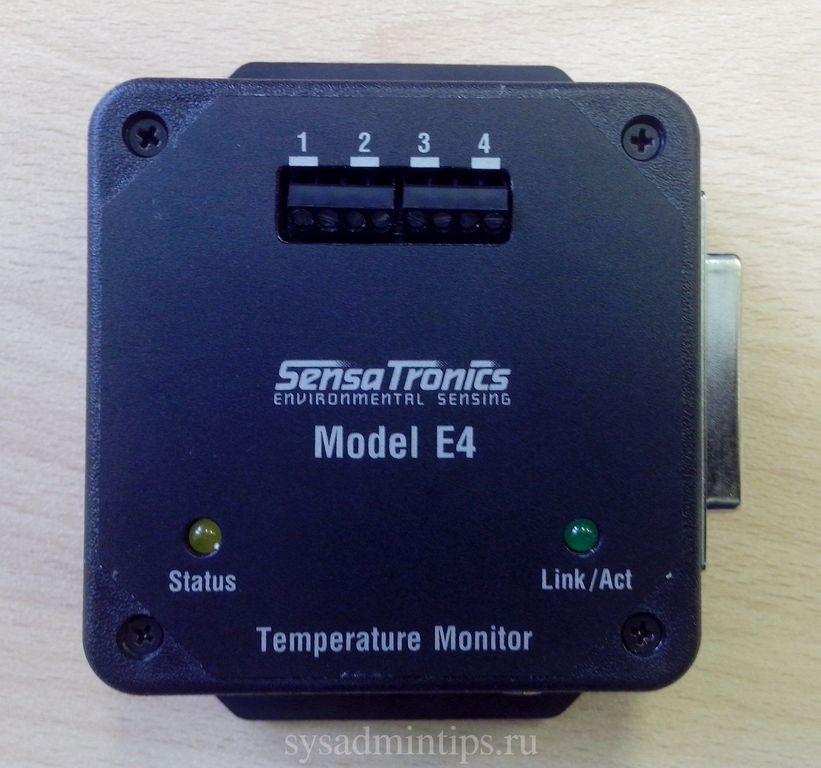 Sensatronics Model E4 -вид спереди