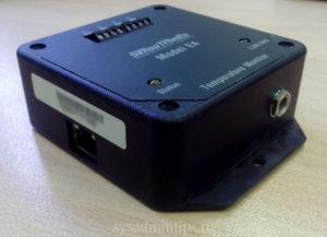 Temperature monitor Sensatronics Model E4 - вид со стороны Ethernet